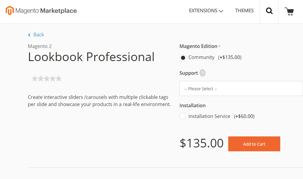 Altima Lookbook Pro at Magento Marketpalce
